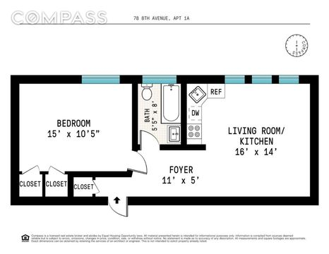 78 8th Avenue, Apt 1-A, undefined, New York