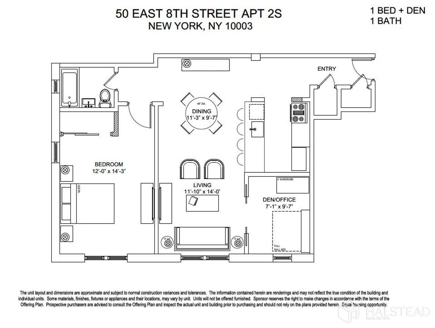 Apartment for sale at 50 East 8th Street, Apt 2S