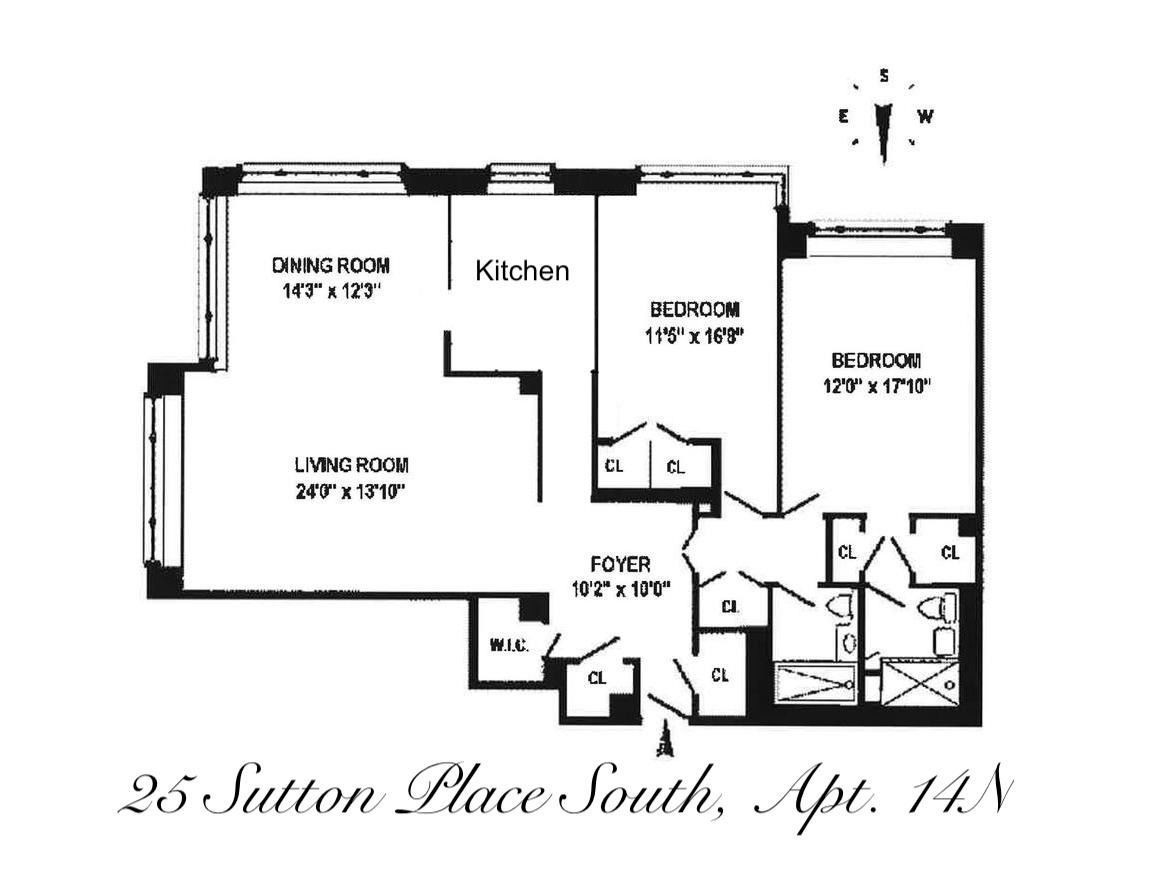 Apartment for sale at 25 Sutton Place South, Apt 14N
