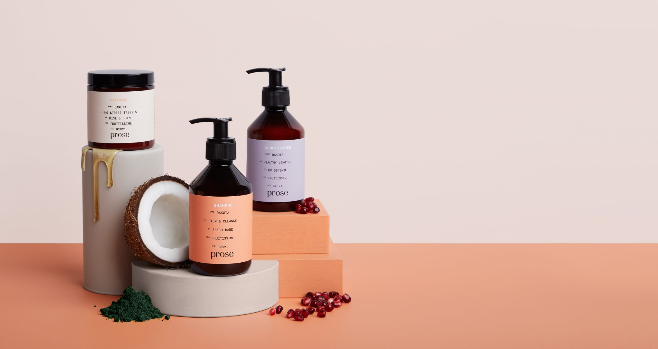 Prose hair care set with natural ingredients
