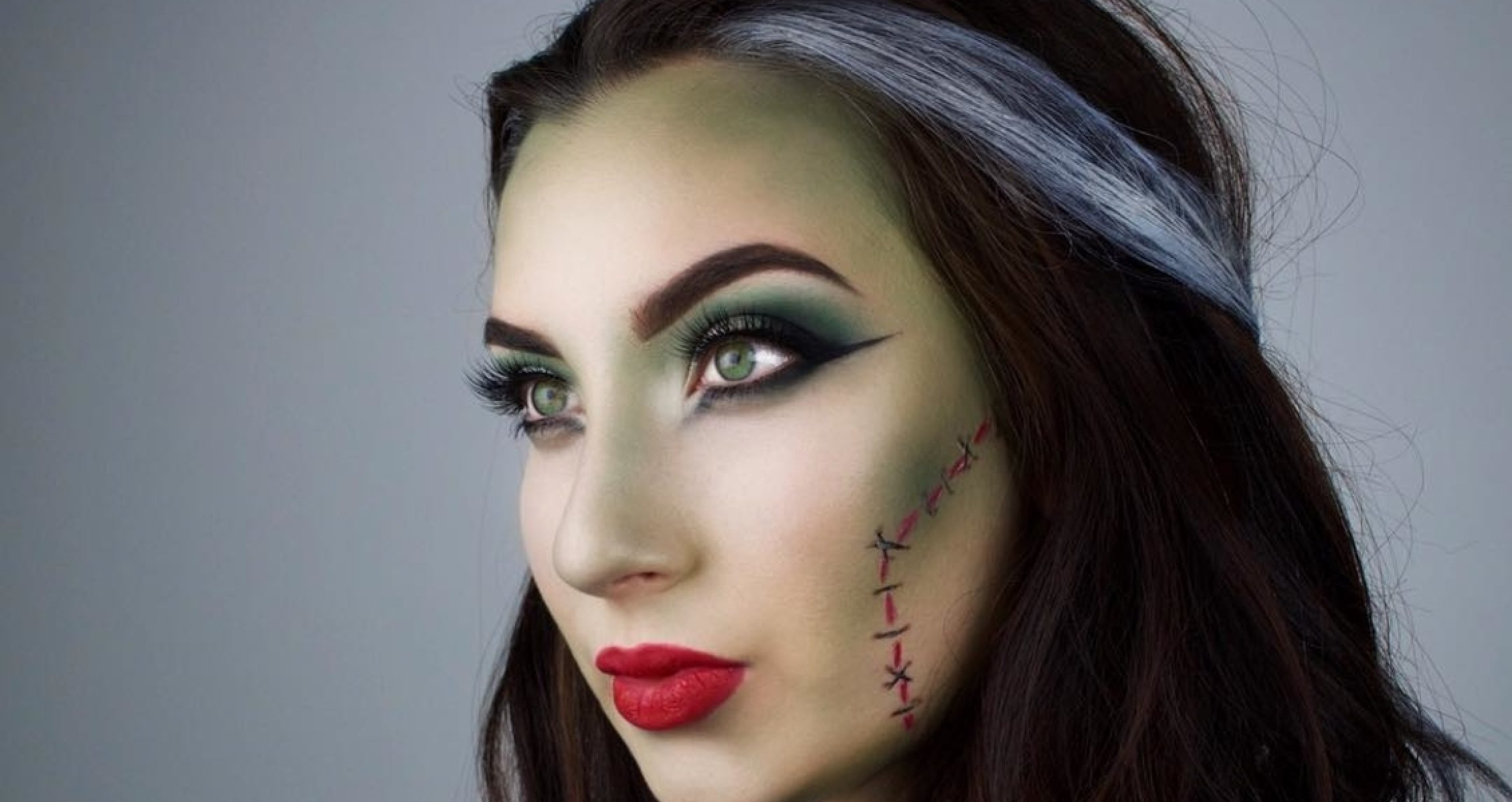 Bride of Frankenstein makeup and hair
