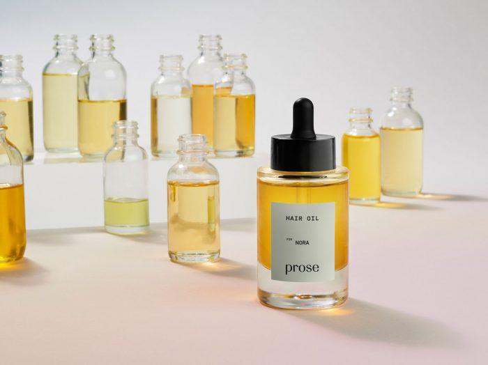 hair oil custom Prose multiple bottles