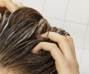 prose scalp mask being worked into roots