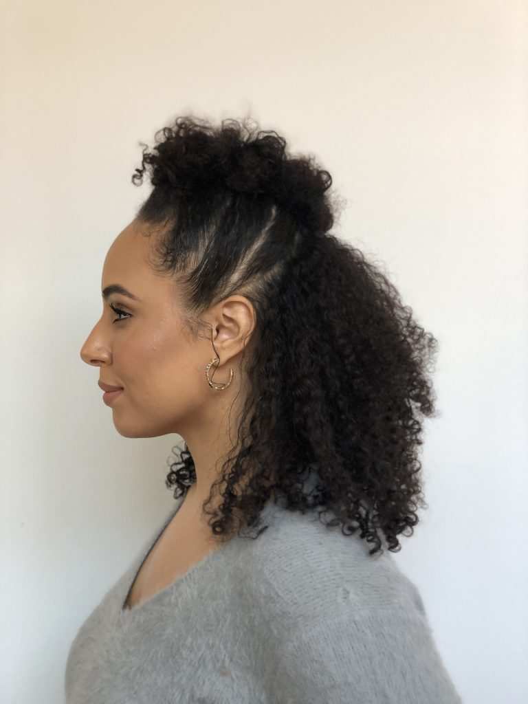 How-to Create a Curly Faux-Hawk Updo | P S  by Prose Hair