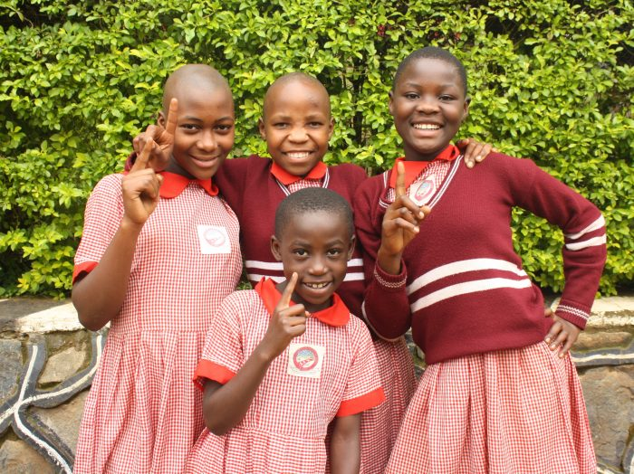 Photo from She's The First Flickr of school girls smiling