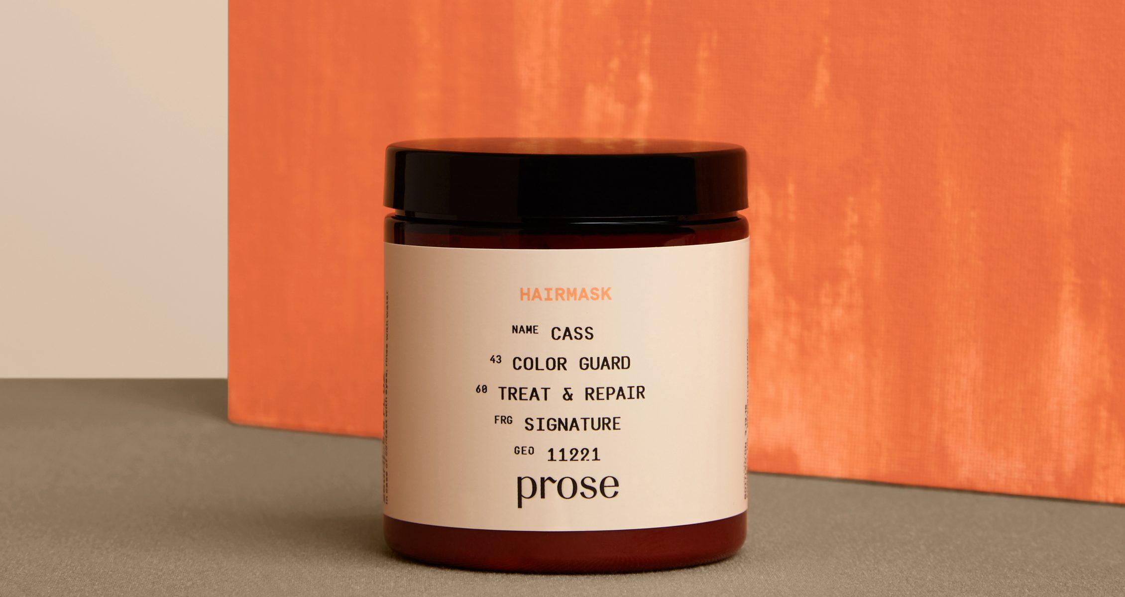 Prose mask from Jurada shoot on bright, orange background