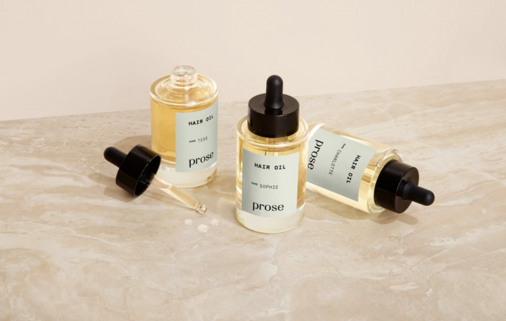 Prose hair oil image with three bottles