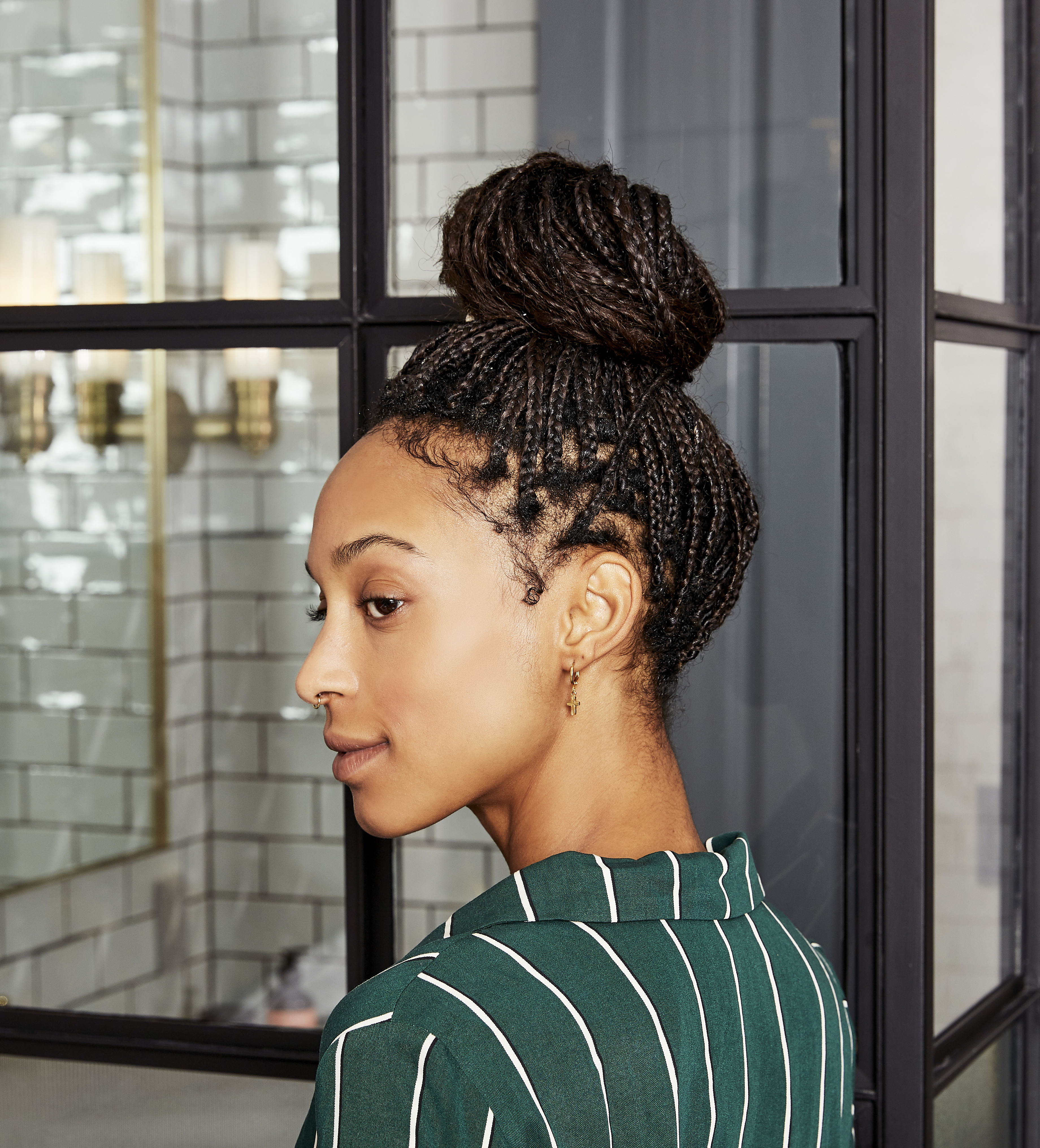Protective hairstyle braids Prose social shoot