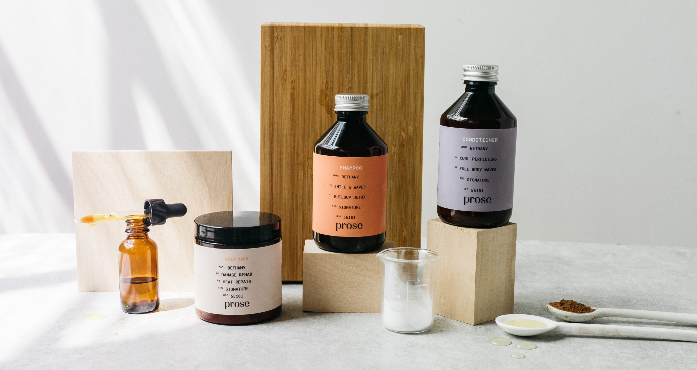 Prose influencer product shot with ingredients