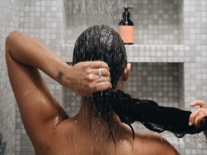 Buildup removal showering Prose shoot