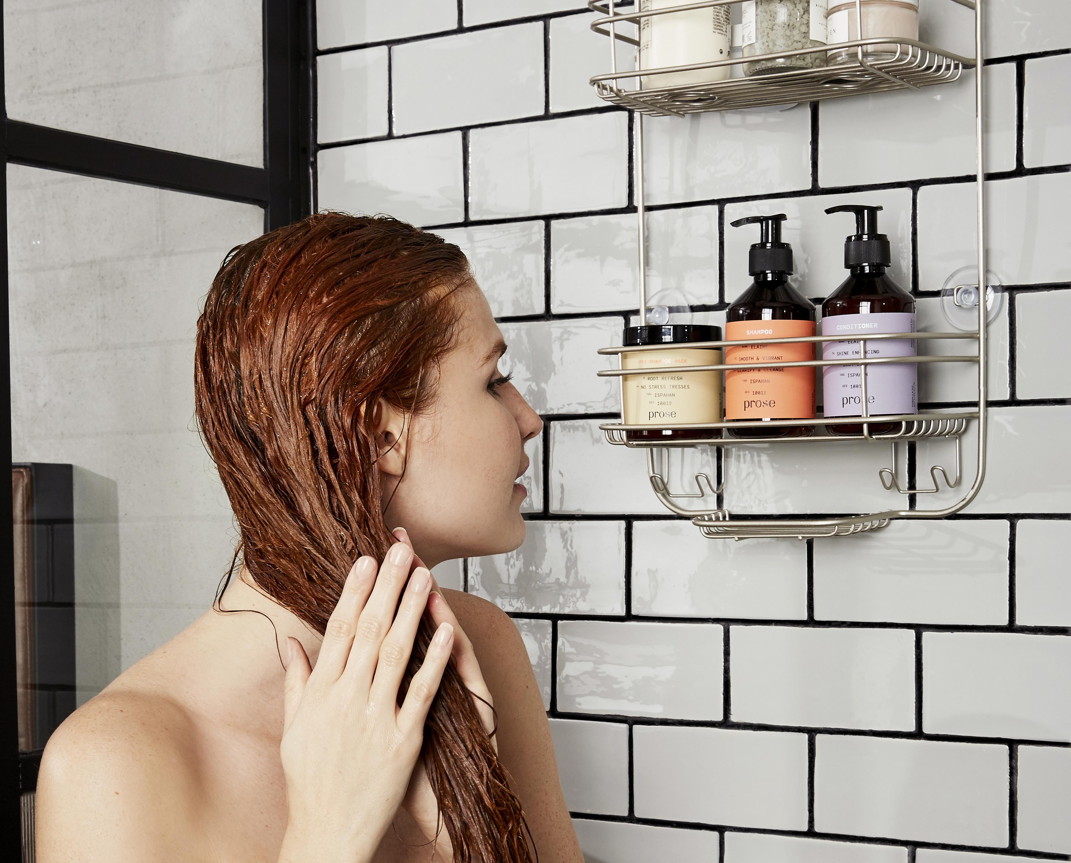tea rinse Prose hair care model