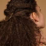 dry style curly hair curl cream