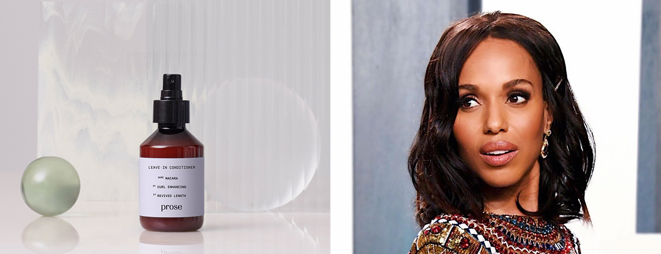 Kerry Washington and Prose Custom Leave-In Conditioner