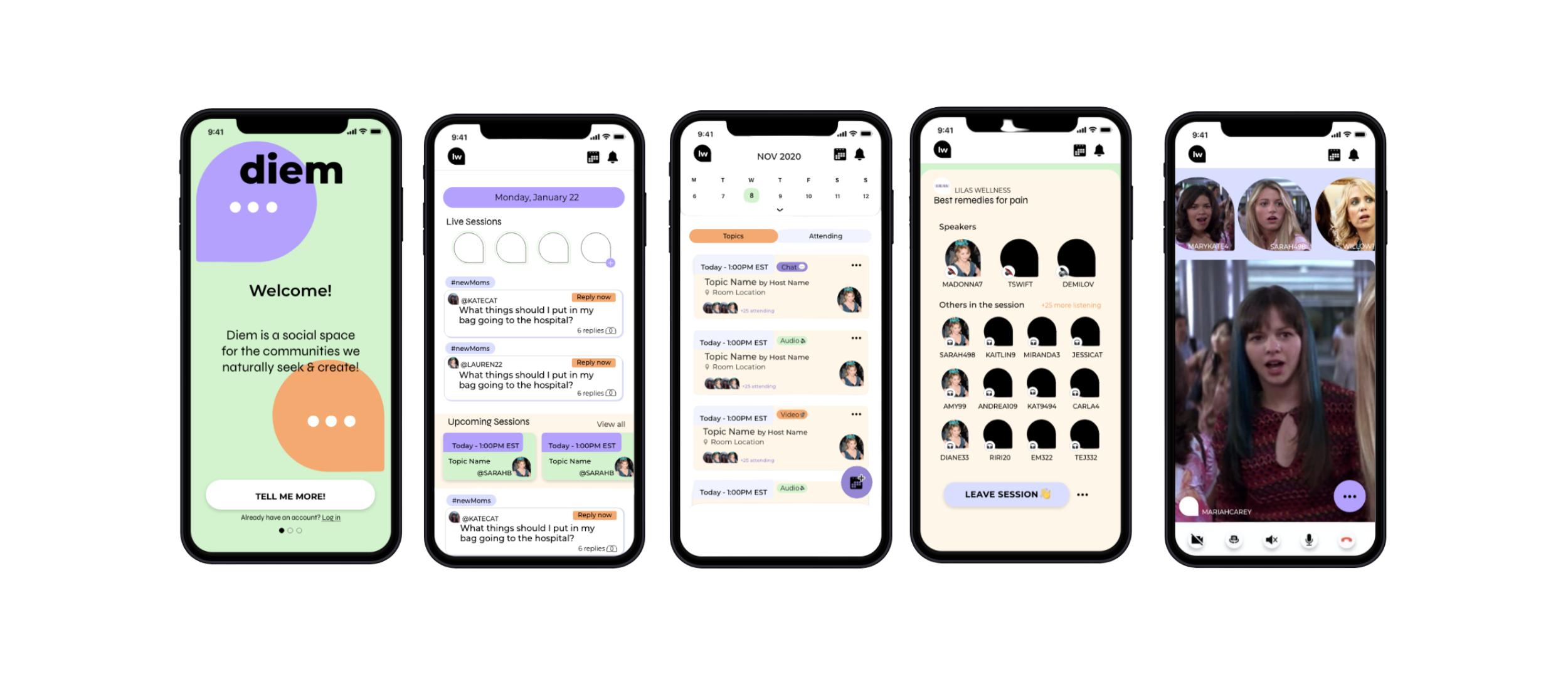 diem app display