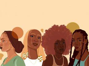 illustration of four Black women