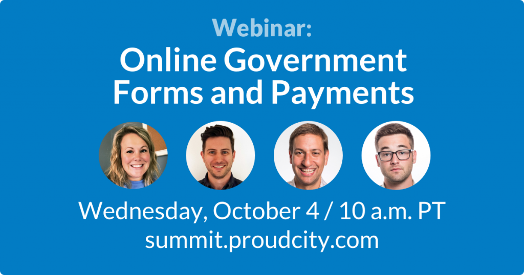Webinar: Online Government Forms and Payments