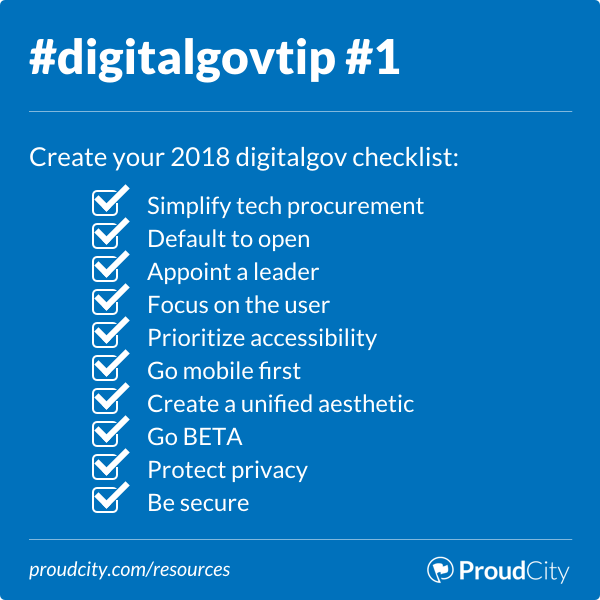 Create your 2018 digital government checklist