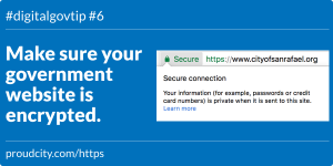 Make sure your government website is encrypted.