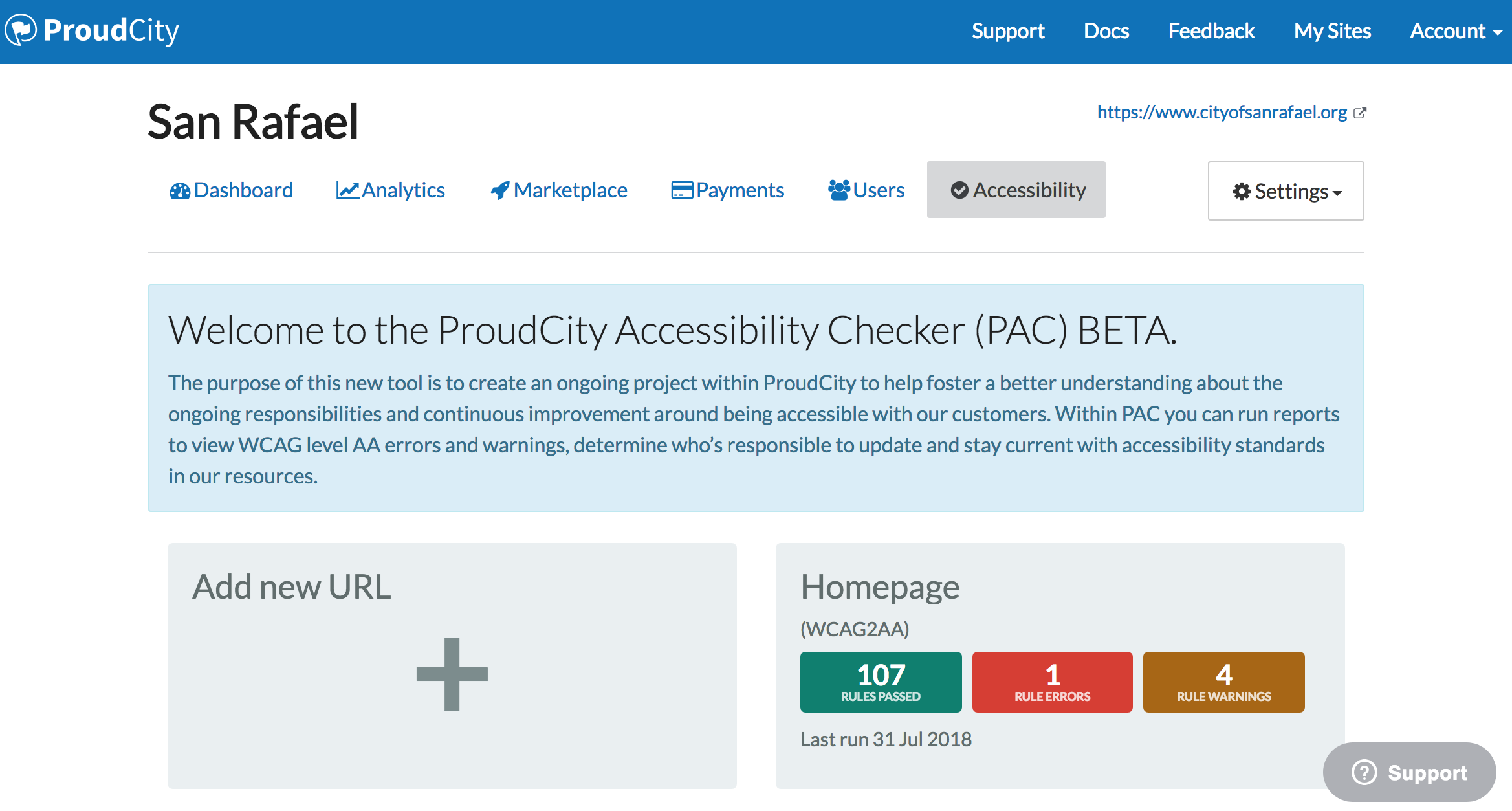 ProudCity Accessibility Checker
