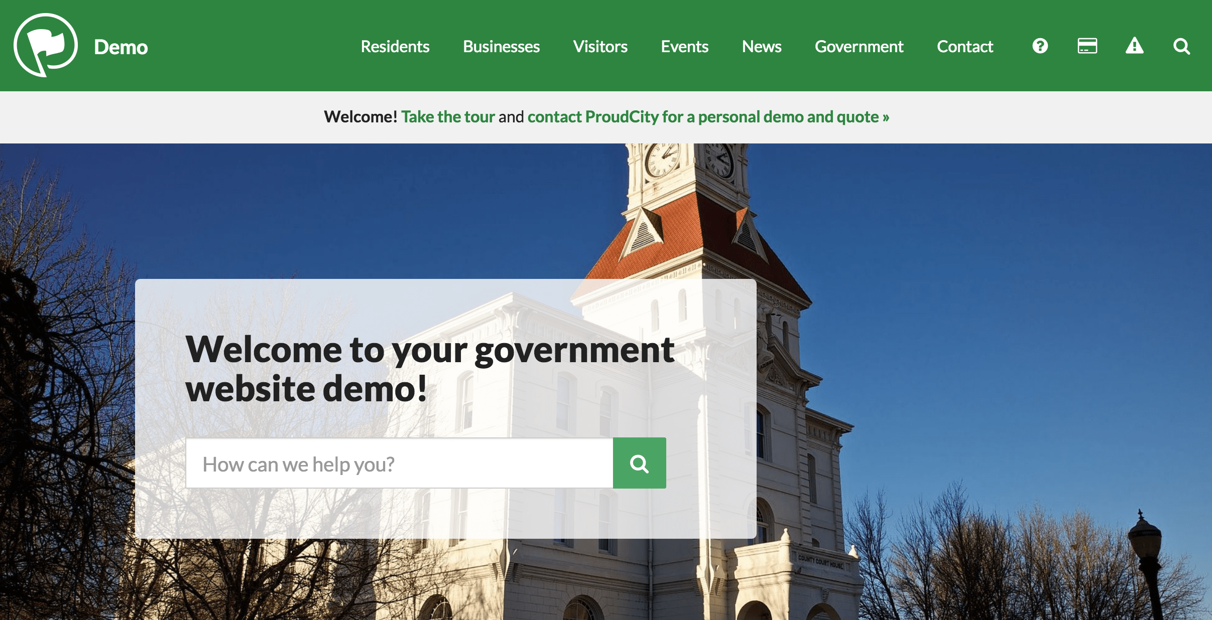 Government website demo