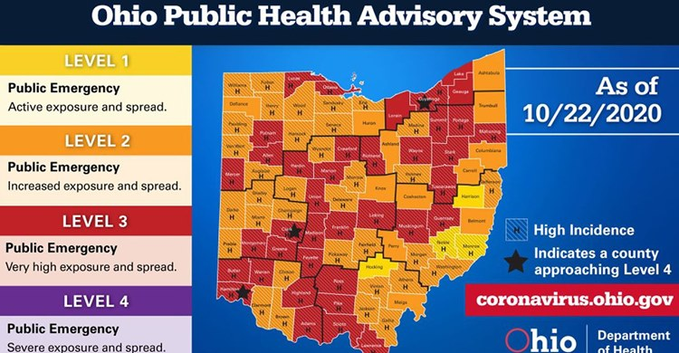 Ohio Public Health Advisory Map