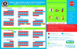 2020 - 2021 Waste Pro Calendar