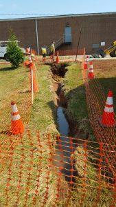 Sewer Line Digout