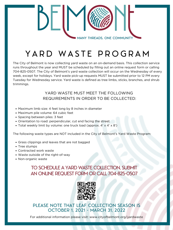 Yard Waste Flyer