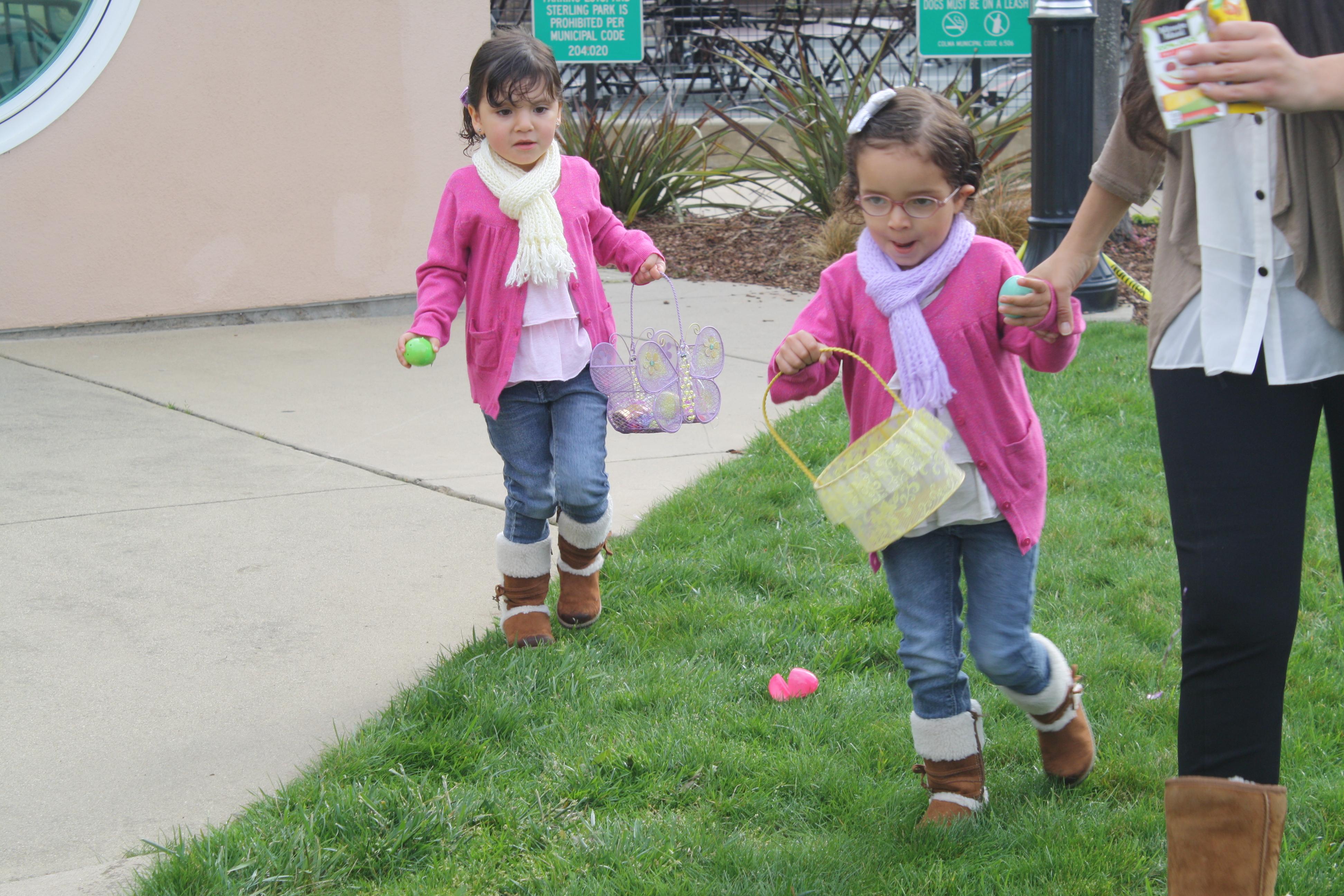 Girls on Egg Hunt