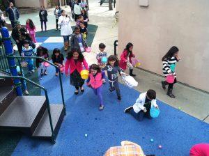 Kids on Egg Hunt