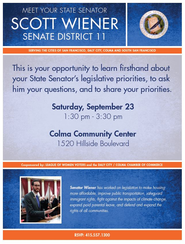 Scott Weiner Event Flyer