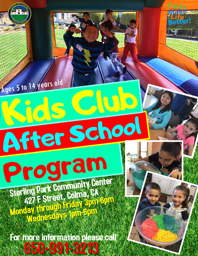 Afterschool Program 2018 2019 Town Of Colma