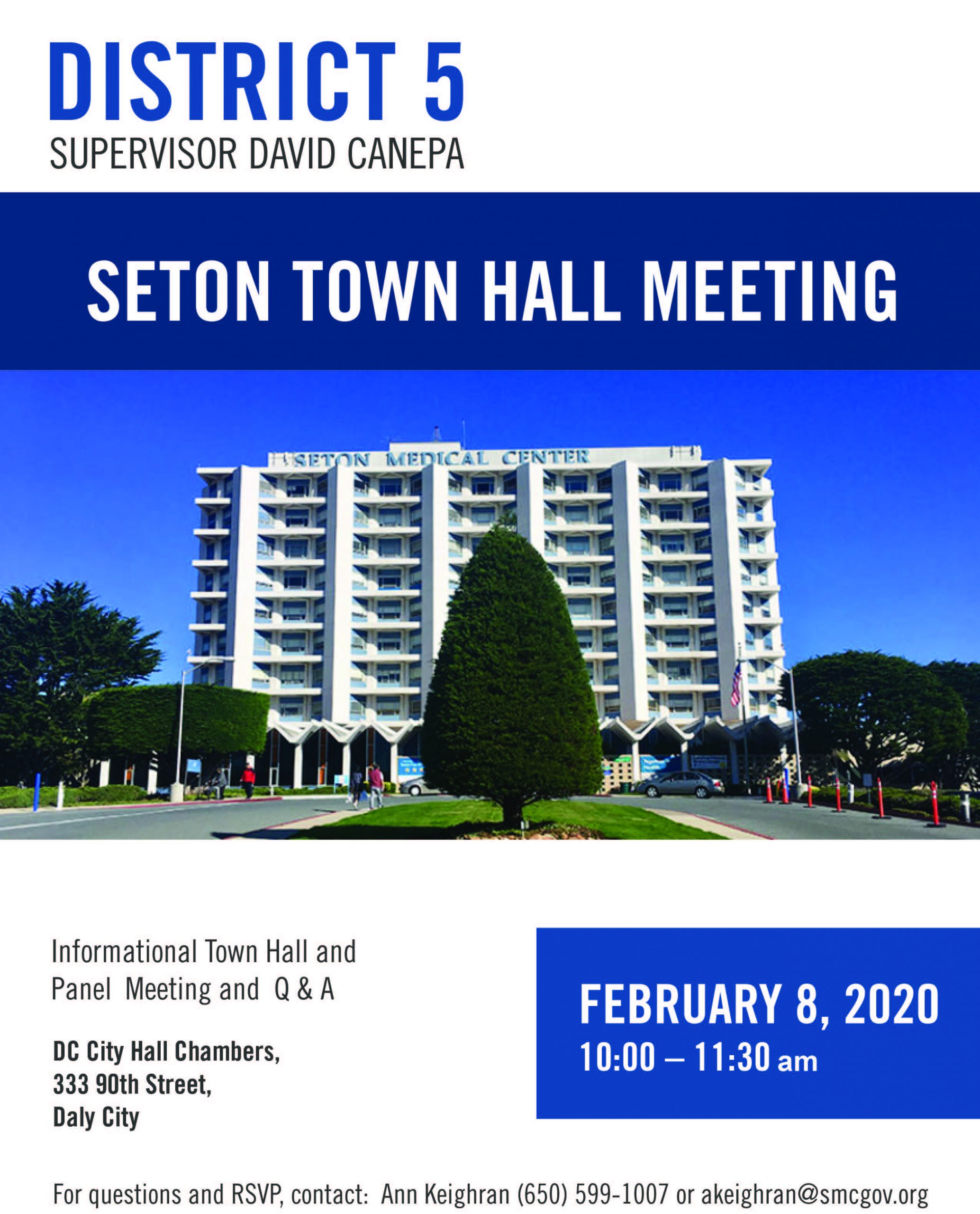 canepa town hall meeting flyer