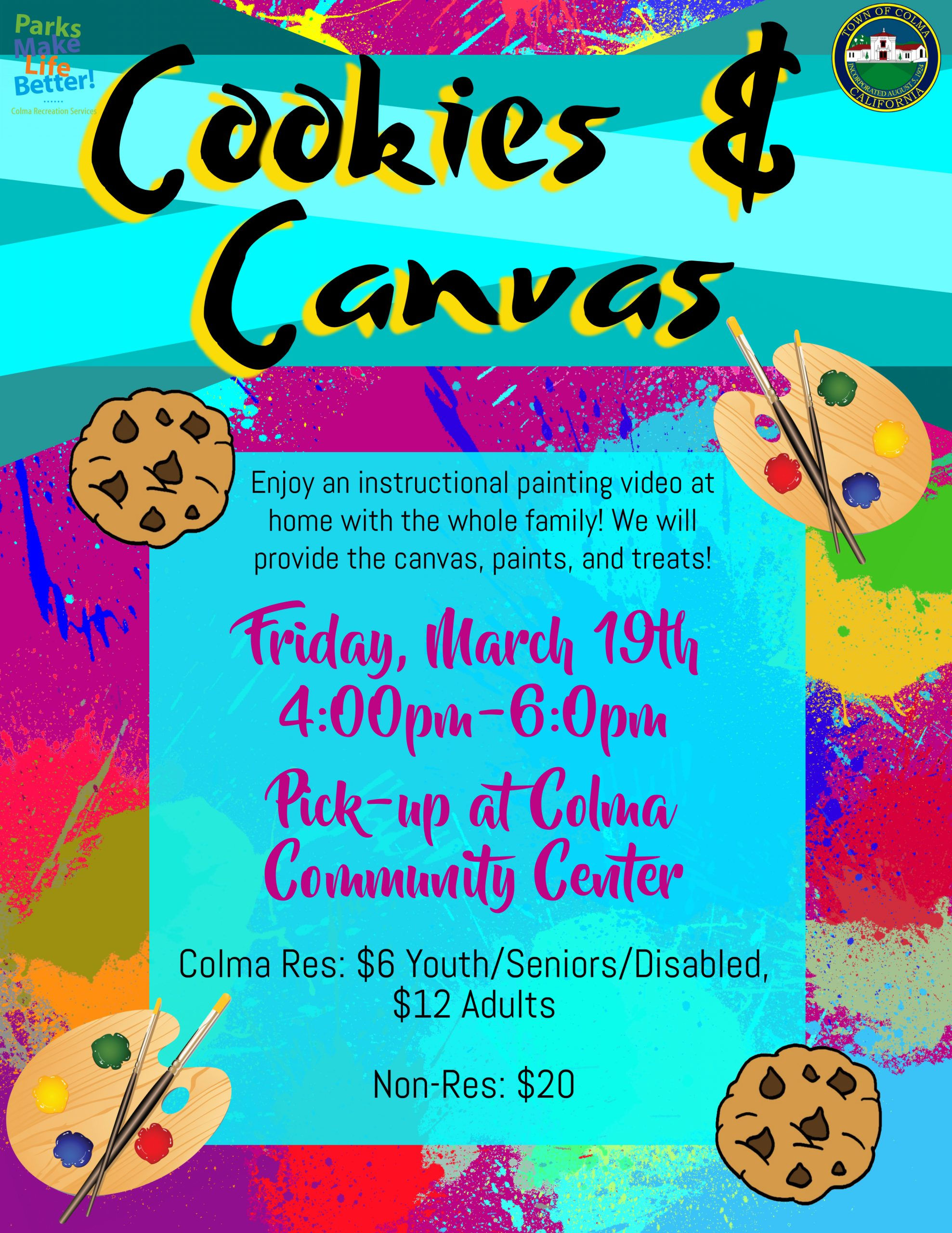 Cookies and Canvas Flyer