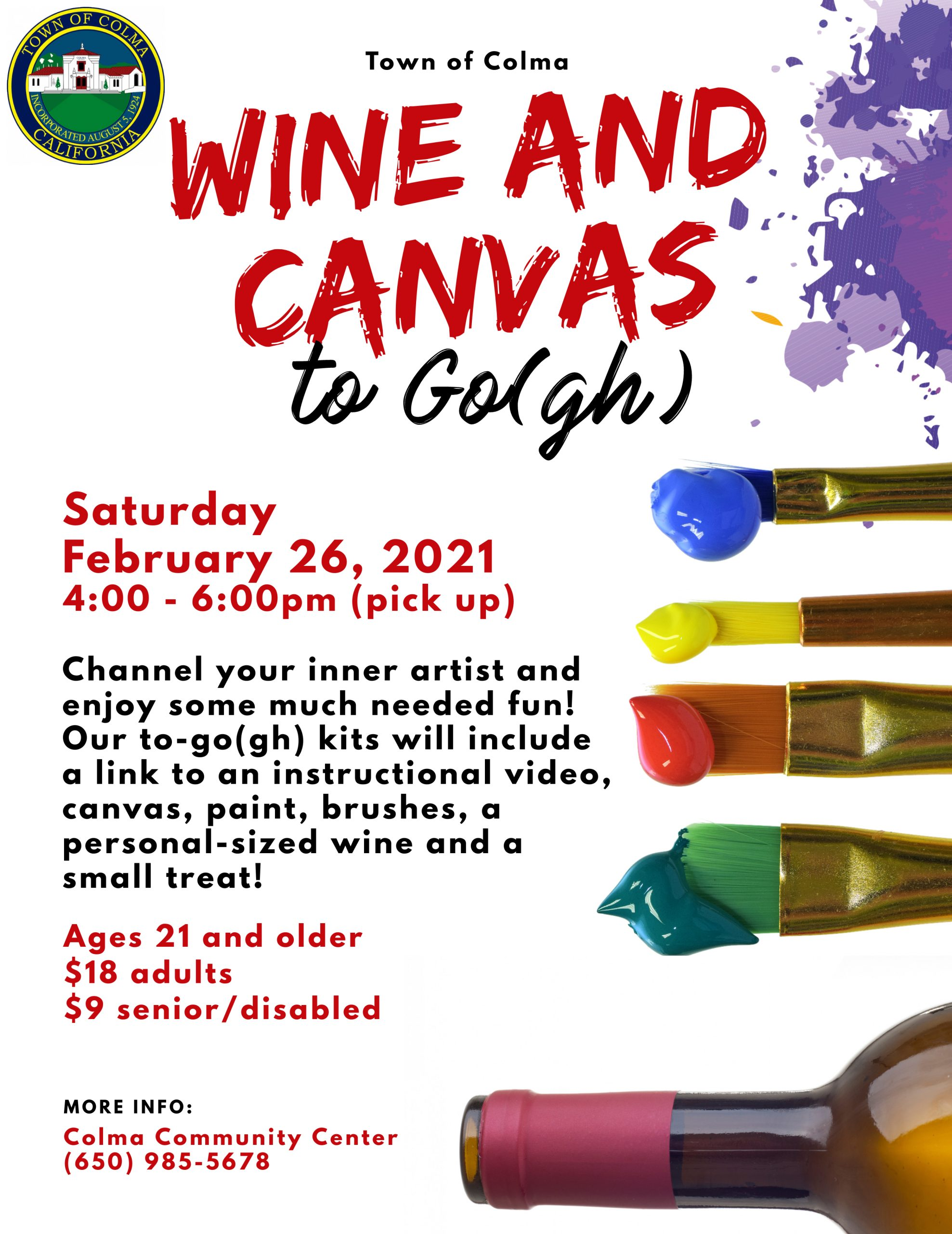 Wine and Canvas Flyer