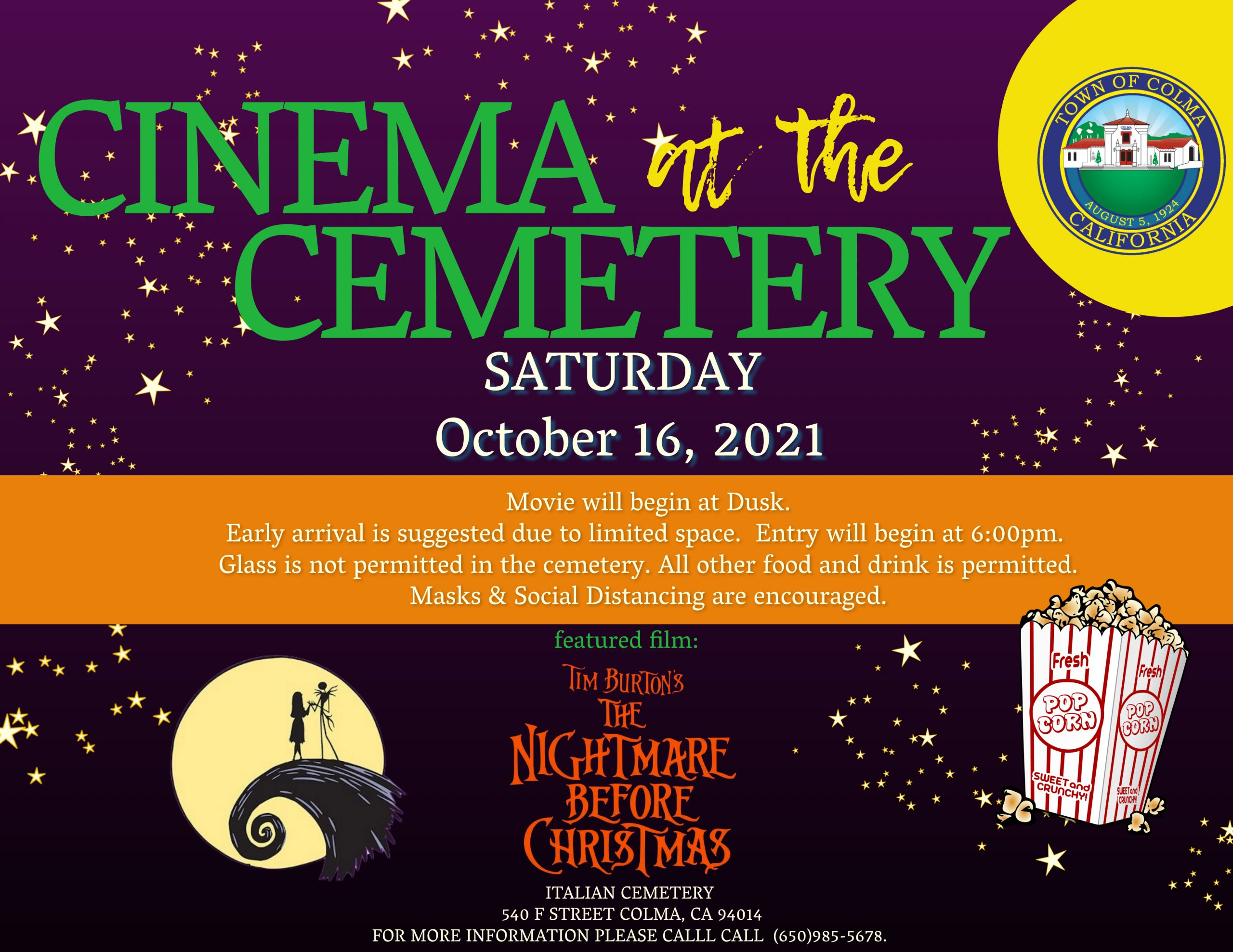Cinema at the Cemetery flyer