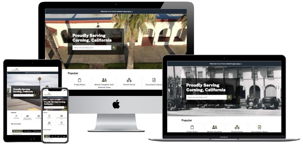 Multi-device homepage screenshot