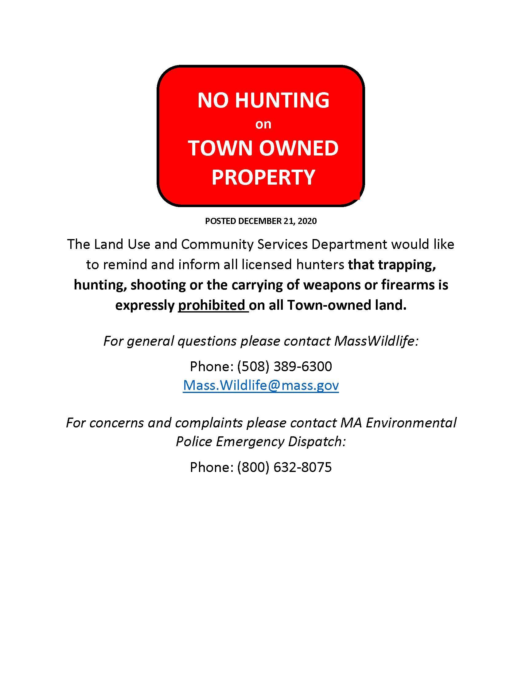 No Hunting 2020