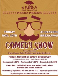 Friends of Endicott Park Comedy Show Flyer for November 10, 2017