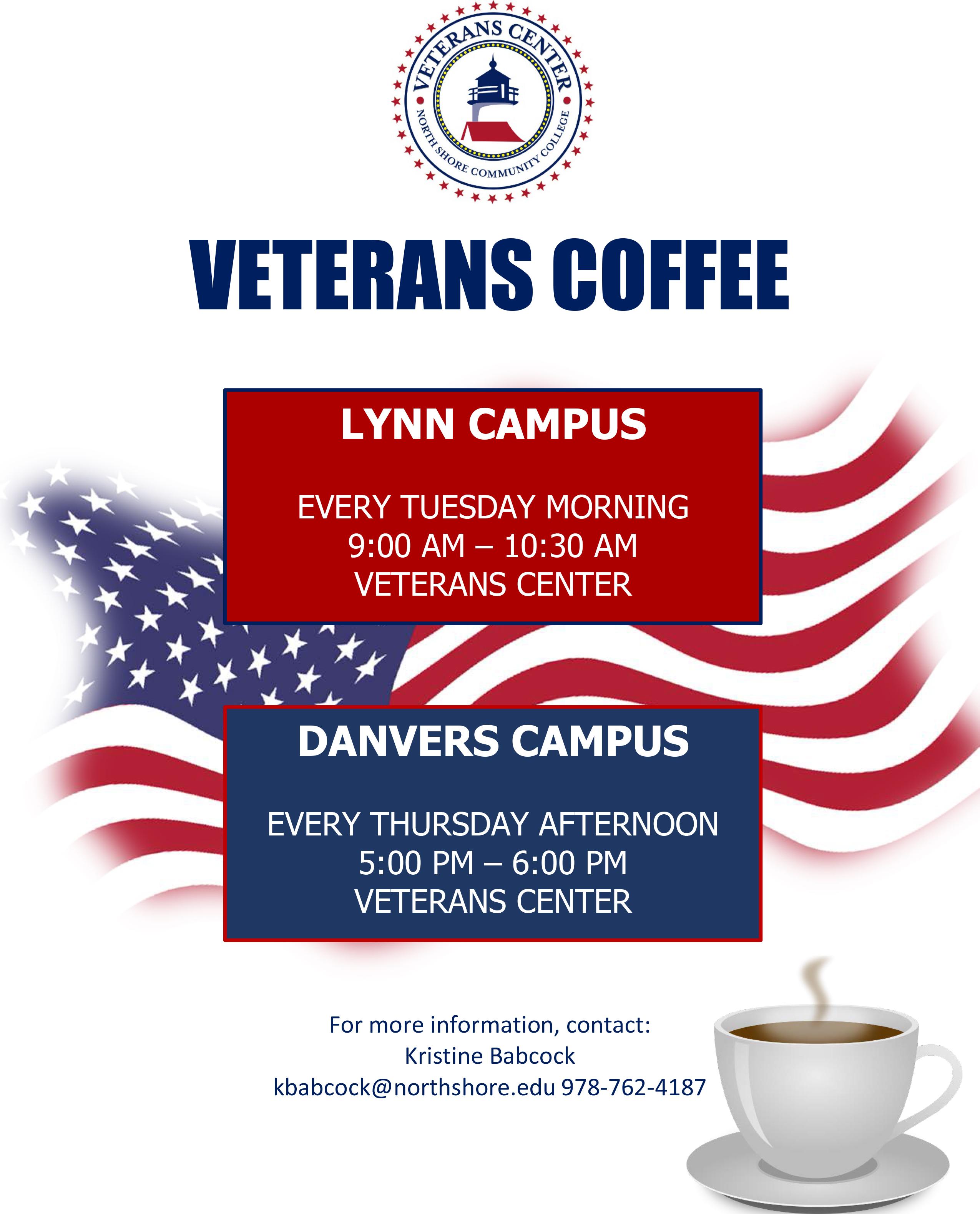 veterans coffee flyer