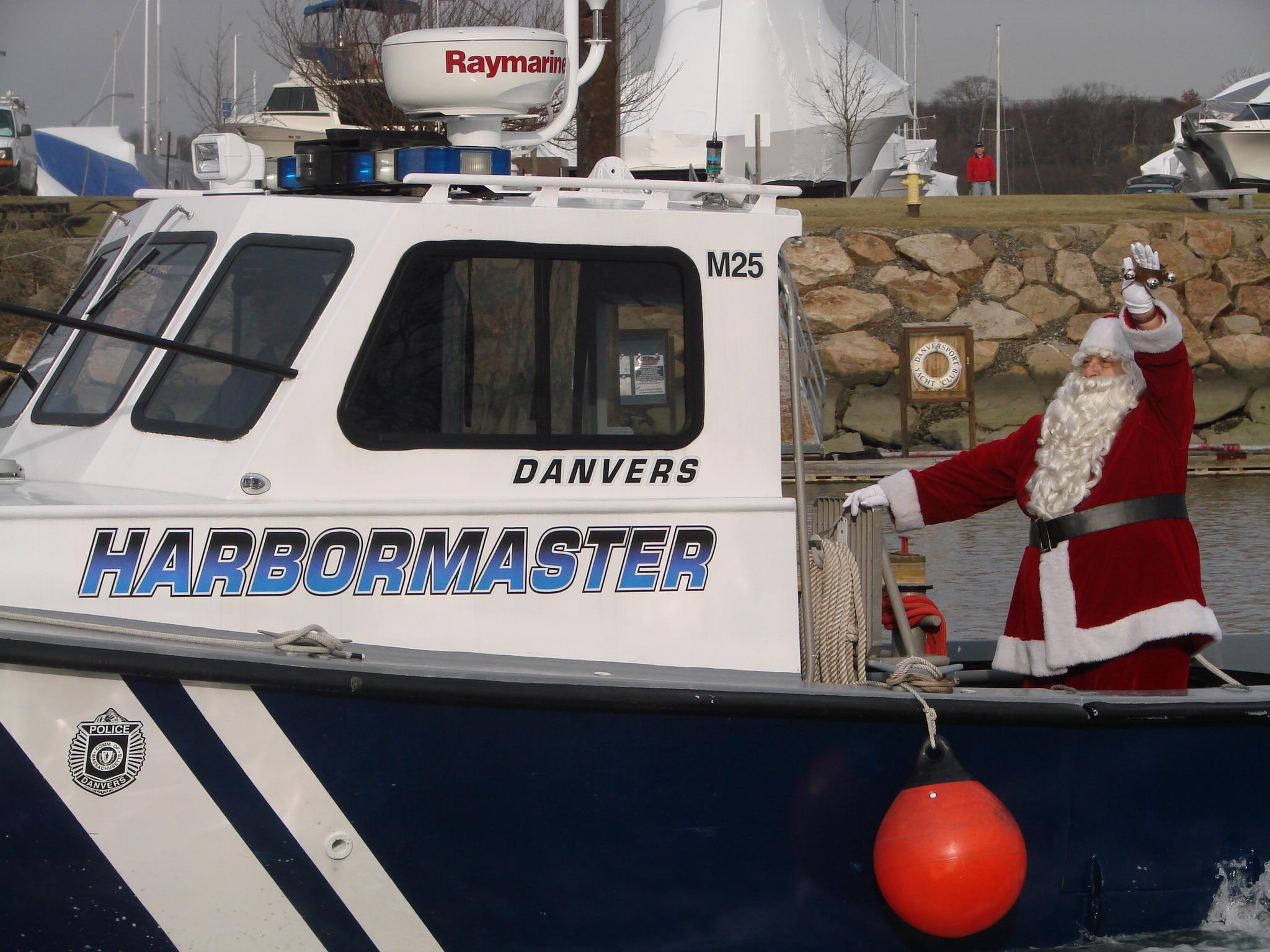 Santa on Boat