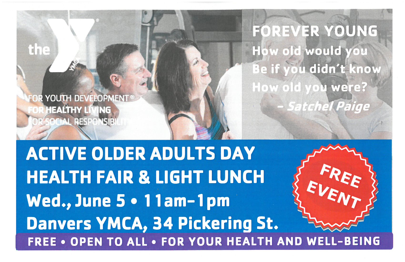 Ad for Active Older Adults Day June 2019