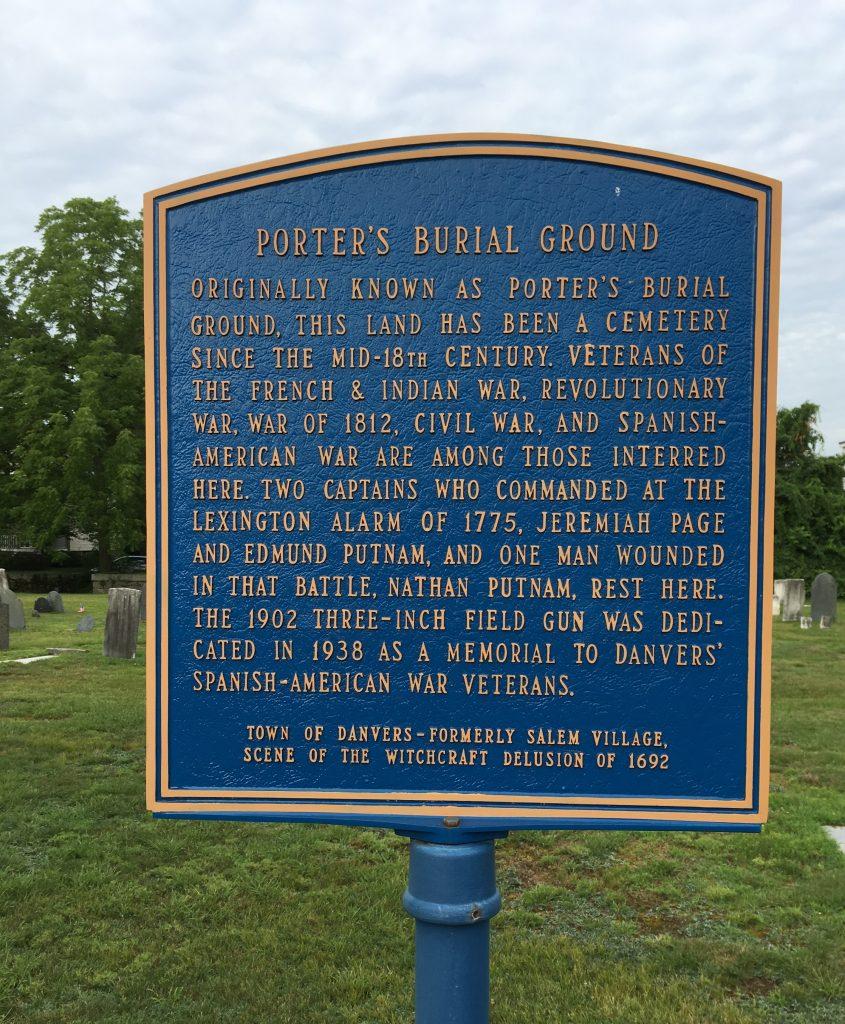 Porter's Burial Ground Historical Marker