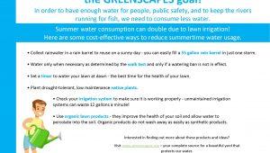 Conserving Water is the Greenscapes Goal