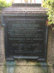 Spencer Hobbs Memorial Marker