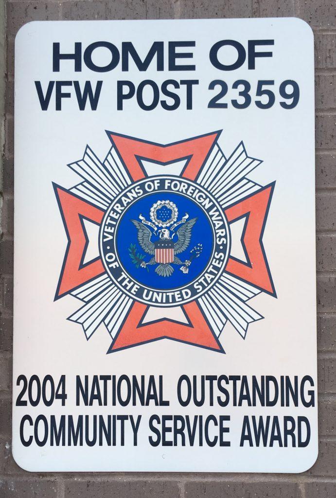 VFW 2359, National Community Service Award