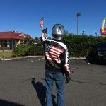 Flags Around Town: Motorcyle Rider