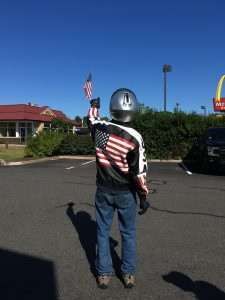 Flags Around Town: Motorcyle Rider