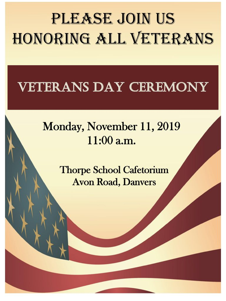 Veterans Day Ceremony Flyer 2019