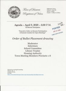 Agenda for Ballot Placement